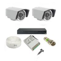 Rapter CCTV COMBO KIT, 36IR Bullet Camera 2 Pcs + 4 Channel Power Supply + 4 Channel HD/AHD DVR + 90 Meter 3+1 Wire (LIMITED STOCK)