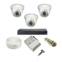 Rapter CCTV COMBO KIT, 36IR Dome Camera 3 Pcs + 4 Channel Power Supply + 4 Channel HD/AHD DVR + 90 Meter 3+1 Wire (LIMITED STOCK)
