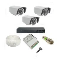 Rapter CCTV COMBO KIT, 36IR Bullet Camera 3 Pcs + 4 Channel Power Supply + 4 Channel HD/AHD DVR + 90 Meter 3+1 Wire (LIMITED STOCK)