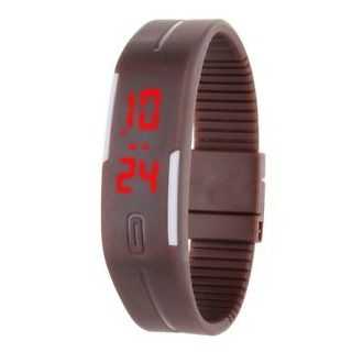 Digital jelly slim LED watch
