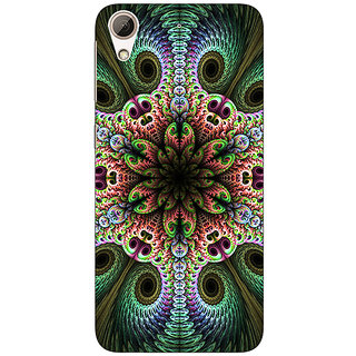 Jugaaduu Paisley Beautiful Peacock Back Cover Case For HTC Desire 728G Dual Sim - J971597