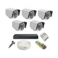 Rapter CCTV COMBO KIT, 36IR Bullet Camera 5 Pcs + 8 Channel Power Supply + 8 Channel HD/AHD DVR + 90 Meter 3+1 Wire (LIMITED STOCK)