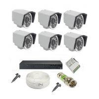 Rapter CCTV COMBO KIT, 36IR Bullet Camera 6 Pcs + 8 Channel Power Supply + 8 Channel HD/AHD DVR + 90 Meter 3+1 Wire (LIMITED STOCK)