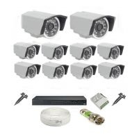 Rapter CCTV COMBO KIT, 36IR Bullet Camera 10 Pcs + 16 Channel Power Supply + 16 Channel HD/AHD DVR + 90 Meter 3+1 Wire (LIMITED STOCK)