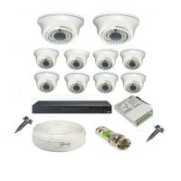 Rapter CCTV COMBO KIT, 36IR Dome Camera 10 Pcs + 16 Channel Power Supply + 16 Channel HD/AHD DVR + 90 Meter 3+1 Wire (LIMITED STOCK)