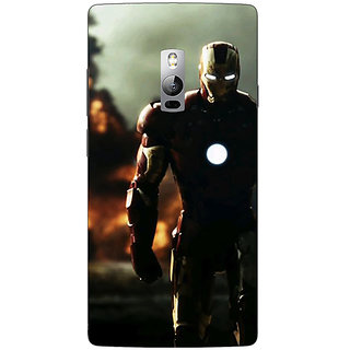 Jugaaduu Superheroes Ironman Back Cover Case For OnePlus Two - J1000033
