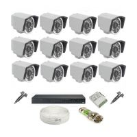 Rapter CCTV COMBO KIT, 36IR Bullet Camera 12  Pcs + 16 Channel Power Supply + 16 Channel HD/AHD DVR + 90 Meter 3+1 Wire (LIMITED STOCK)