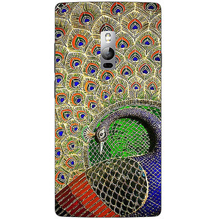 Jugaaduu Paisley Beautiful Peacock Back Cover Case For OnePlus Two - J1001586