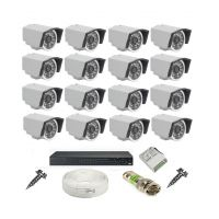 Rapter CCTV COMBO KIT, 36IR Bullet Camera 16  Pcs + 16 Channel Power Supply + 16 Channel HD/AHD DVR + 90 Meter 3+1 Wire (LIMITED STOCK) - 89371030