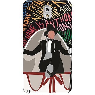 Jugaaduu Bollywood Superstar Anthony Gonsalves Back Cover Case For Samsung Galaxy Note 3 N9000 - J91117