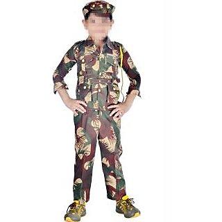 Soldier fancy dress costume for kids