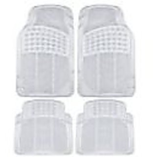 Becart Rubber Foot Mat For Maruti celerio-Transparent (white)