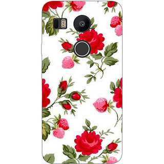 Jugaaduu Floral Pattern  Back Cover Case For LG Google Nexus 5X - J1010662