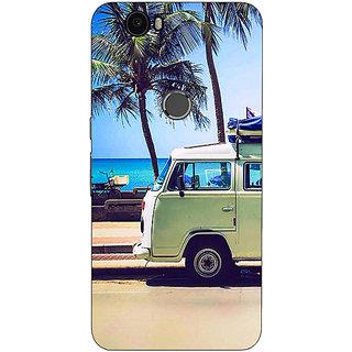 Jugaaduu Summer Van Back Cover Case For Huawei Google Nexus 6P - J1021160