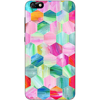 Jugaaduu Hexagon  Pattern Back Cover Case For Huwaei Honor 4X - J690222