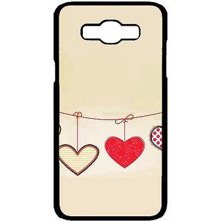Jugaaduu Hearts Back Cover Case For Samsung Galaxy J7 - J701406