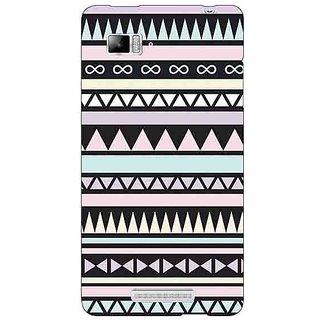Jugaaduu Aztec Girly Tribal Back Cover Case For Lenovo K910 - J710071