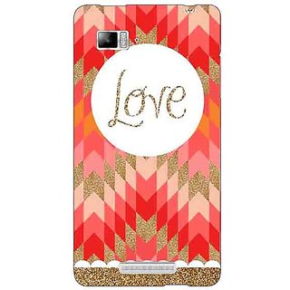 Jugaaduu Love Back Cover Case For Lenovo K910 - J710096