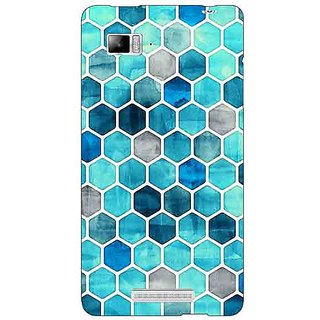 Jugaaduu Blue Hexagons Pattern Back Cover Case For Lenovo K910 - J710270