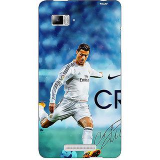 Jugaaduu Cristiano Ronaldo Real Madrid Back Cover Case For Lenovo K910 - J710313