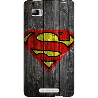 Jugaaduu Superheroes Superman Back Cover Case For Lenovo K910 - J710384