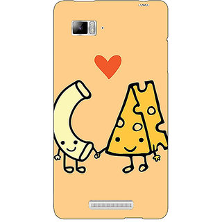 Jugaaduu Cheese Donut Love Back Cover Case For Lenovo K910 - J711133