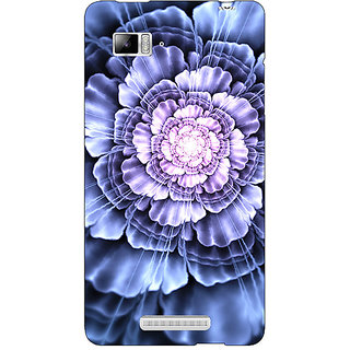 Jugaaduu Abstract Flower Pattern Back Cover Case For Lenovo K910 - J711516