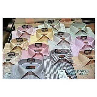 Set Of 3 Men's Stripes/Plain Shirts (Assorted Sets)