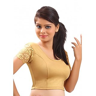 k g fashions Gold Colour Readymade half sleeve blouses