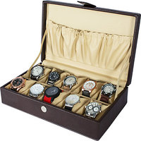 FOCECO WATCH BOX WB 18 (BROWN, HOLDS 10 WATCHES)