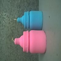 BABY SHOWER CANDLE SET OF THE 2 CANDLES IN PINK N BLUE COLUR WITH YOUR SELLECTED PERFUME.