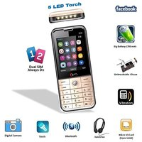 Chilli-B39 Unbreakable Glass, 5 LED Torch Multimedia GSM Mobile Phone