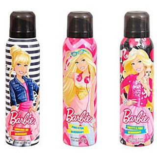 barbie deodrants combo pack of 3