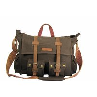 The House Of Tara 15 inch Laptop Messenger Bag (Brown) HTMB 04