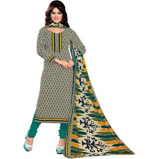 Khoobee Cotton Dress Material (Beige, Blue, Rama)