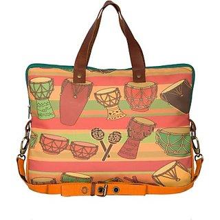 The House Of Tara 14 inch Laptop Messenger Bag (Multicolor) HTLB 025