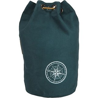 The House of Tara Wax Coated Cotton Canvas Rucksack 21 L Backpack (Combat Blue) HTBR 02