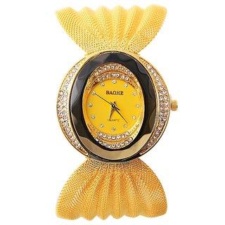 Gold BAOHE Fashion Ladies Luxury Quartz Wrist watches Women Rhinestone Watch