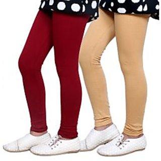 Indiweaves Kids Super Soft Cotton Leggings Combo 2-(7140071401-IW-K)