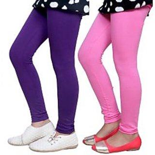 Indiweaves Kids Super Soft Cotton Leggings Combo 2-(7140271408-IW-K)