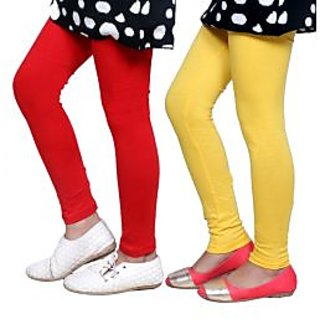 Indiweaves Kids Super Soft Cotton Leggings Combo 2-(7140471407-IW-K)