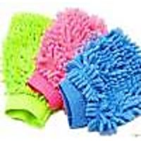 Micro Fiber Car Washing / Cleaning Gloves ( Pack of 2)