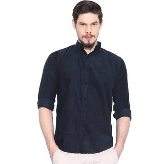Rodamo Navy Blue Casual Shirts For Men