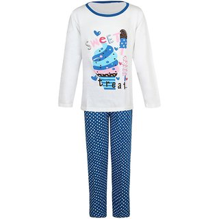 Jazzup Cotton Printed Nightsuit For Girls-(KZ-RDA1696)