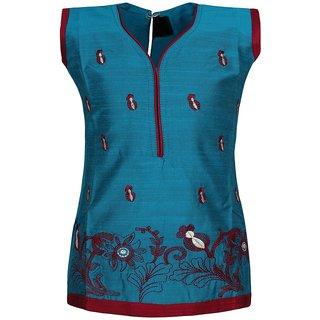 Jazzup Cotton Embroidered Kurti For Girls-(KZ-ART1213)