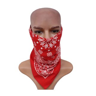 Sushito Red Fashion Multi Use Headwrap  JSMFHHR0237
