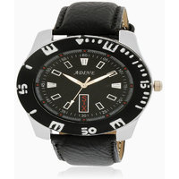 Adine White Dial Analog Watch (AD-6015 BLACK-BLACK)