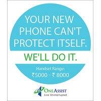 One Assist Protect Accidental Damage and Liquid Damage Protection for Mobiles (Rs. 5000 to  8000)