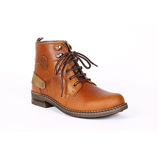 Do Bhai High Ankle Length Boots (Option 2)