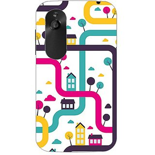 Designer Plastic Back Cover For HTC Desire V